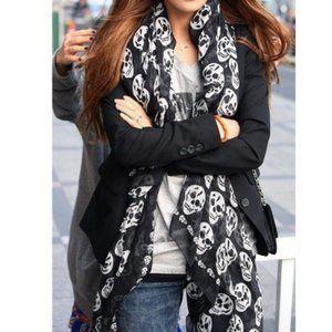 Black & white skull scarf